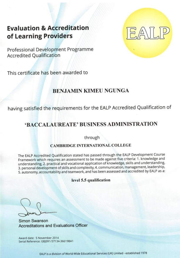 Ealp Accreditation And Certifications